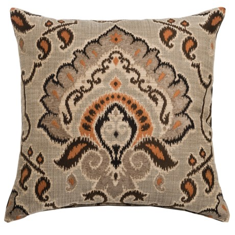 "Canaan Mykonos Chenille Decorative Pillow - 24x24"", Feather-Down"