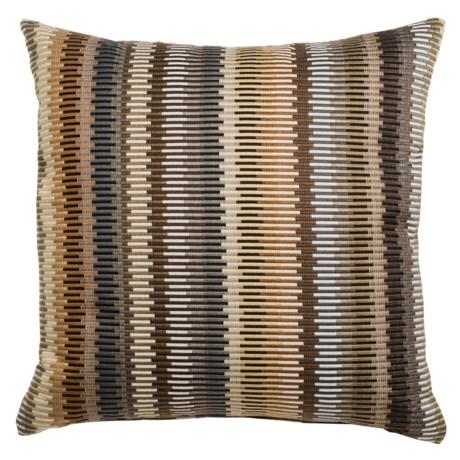 "Canaan Aquinto Layered Zipper-Stripe Decorative Pillow - 22x22"", Feather-Down"
