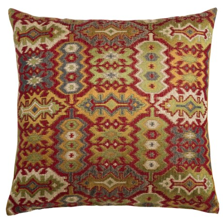 "Canaan Kedar Aztec Pattern Decorative Pillow - 22x22"", Feather-Down"