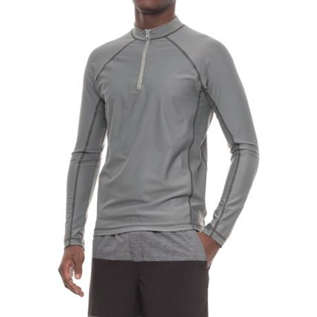 Cabana Life Rash Guard - UPF 50+, Zip Neck, Long Sleeve (For Men)