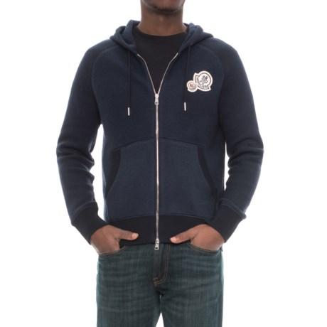 Moncler Varsity Cotton Hoodie - Full Zip (For Men)