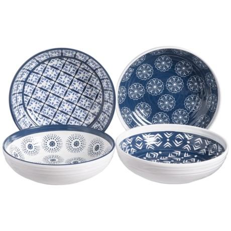 Artisan de Luxe Indigo Melamine Bowls - Set of 4
