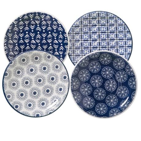 Artisan de Luxe Indigo Melamine Salad Plates - Set of 4