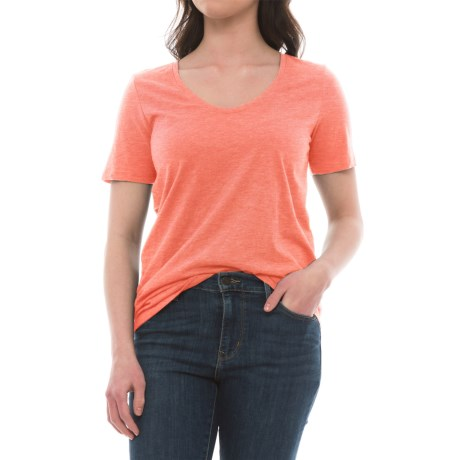 Specially made Rounded V-Neck Shirt - Short Sleeve (For Women)