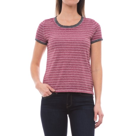 Specially made Pinstripe Knit Shirt - Short Sleeve (For Women)