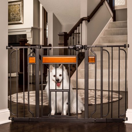 Carlson Pet Products Design Paw Extra-Wide Walk-Through Pet Gate