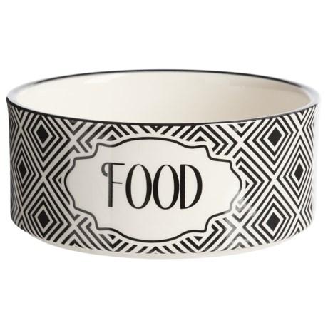 PetRageous Stoneware Dog Food Bowl - 3.5 Cups