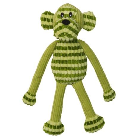"PetRageous SafariRageous Monkey Squeaker Dog Toy -16"""