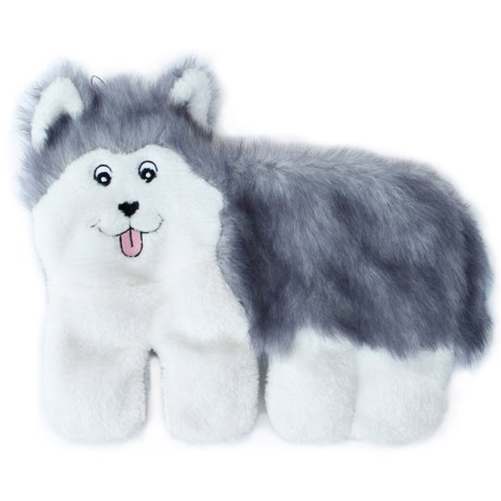 ZippyPaws Squeakie Pups Husky Dog Toy - Stuffing Free