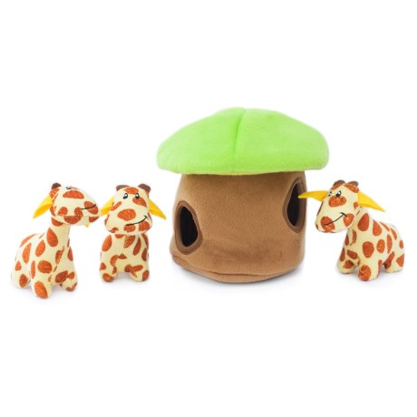 ZippyPaws Burrow Giraffe Lodge Dog Toy