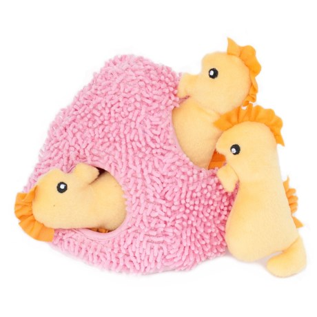 ZippyPaws Burrow Seahorse 'n Coral Dog Toy