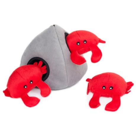 ZippyPaws Burrow Crab 'n Rock Dog Toy
