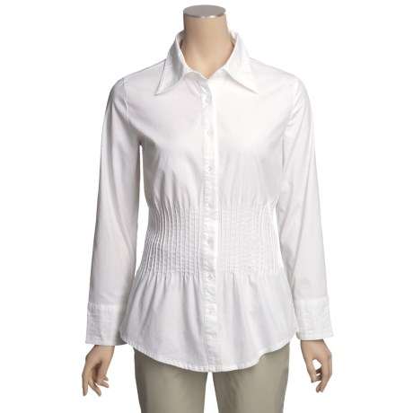 Euro Stretch Cotton Lace Shirt - Long Sleeve (For Women)