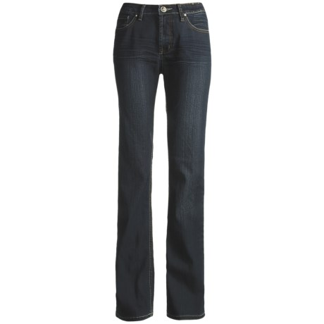 Ethyl Cotton Bootcut Jeans - Whiskered Detail (For Women)