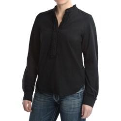 Ethyl Cotton Knit Shirt - Ruffled, Long Sleeve (For Women)