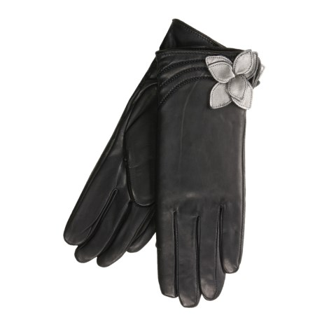 Cire by Grandoe Flora Sheepskin Gloves - Cashmere Lining (For Women)