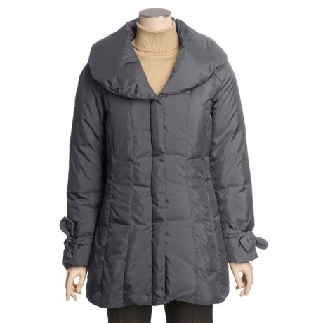 Cole Haan Down Coat - Tie-Sleeve Cuffs (For Women)