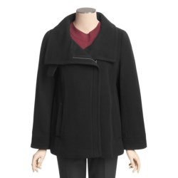 Cole Haan Wool-Cashmere Coat - Bell Sleeve (For Women)