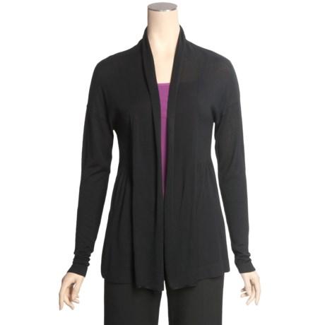 Lilla P Open Cardigan Sweater - Lightweight (For Women