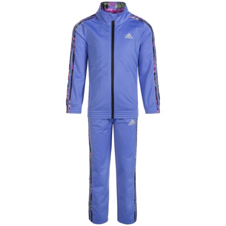adidas Tricot Warm-Up Jacket and Pants Set (For Little Girls)