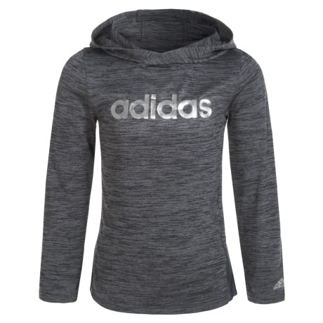 adidas Space-Dyed Melange Hoodie (For Little Girls)