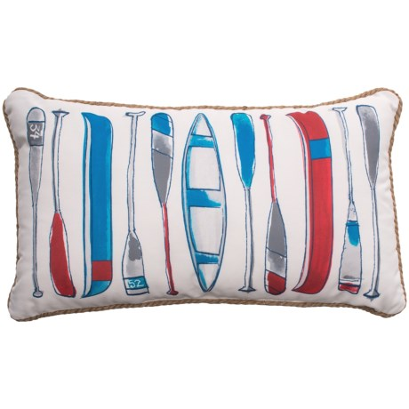 Max Studio Oars and Canoes Throw Pillow - 14x24""