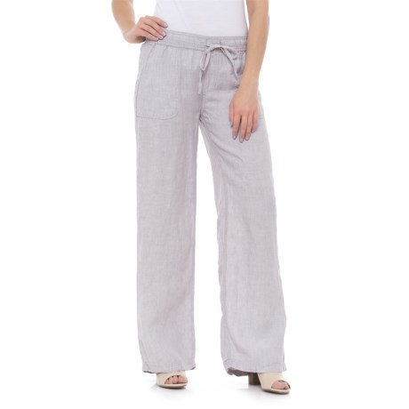Jones New York Drawcord Linen Pants (For Women)