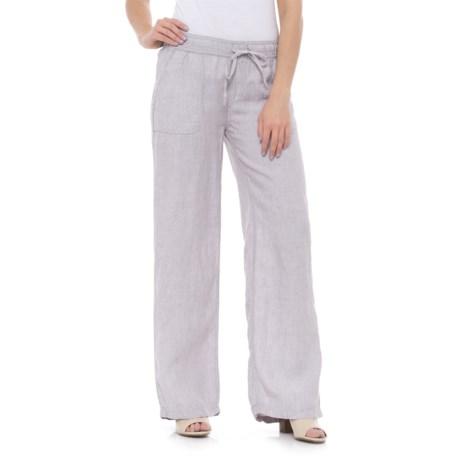 Jones New York Drawcord Linen Pants (For Women)