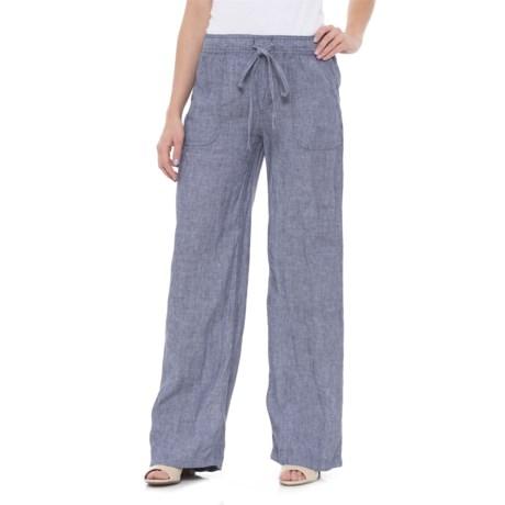 Jones New York Cross-Dye Linen Pants (For Women)