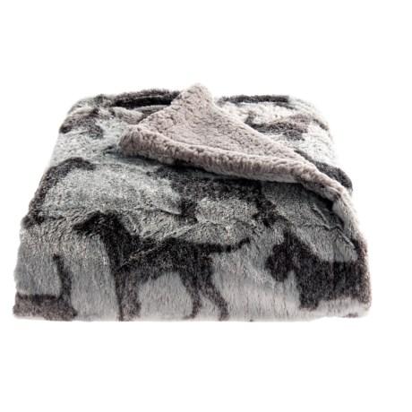 "Arlee Dog Print Sherpa Pet Blanket - 50x60"""