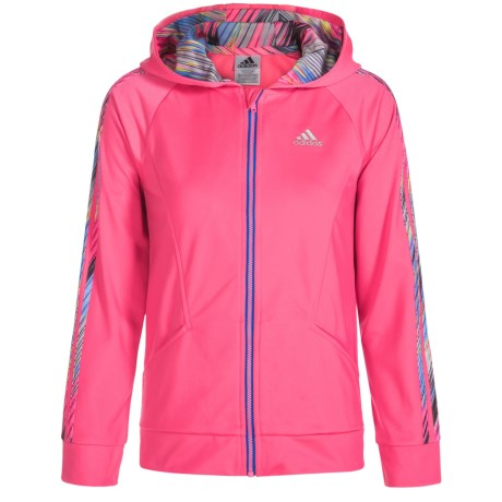 adidas Hooded Tricot Jacket (For Big Girls)