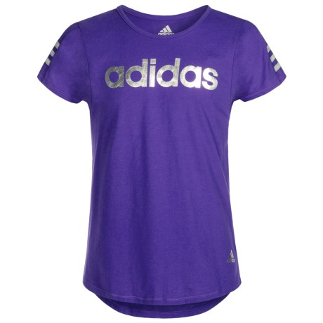 adidas Earn Your Stripes T-Shirt - Short Sleeve (For Big Girls)