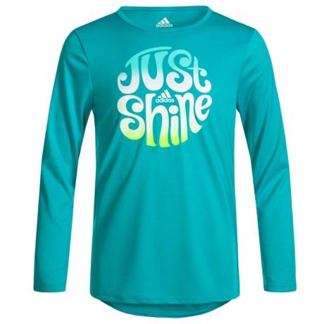 adidas Just Shine Shirt - Long Sleeve (For Big Girls)