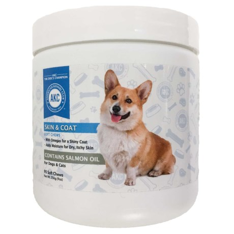 AKC Skin and Coat Dog and Cat Supplements - 90-Count