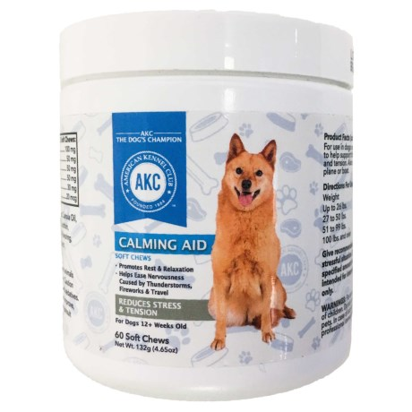AKC Calming Aid Dog Supplements - 60-Count