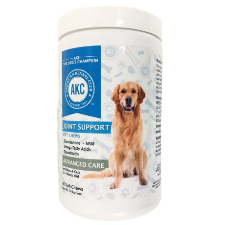 AKC Joint Support Advanced Care Dog and Cat Supplements - 60 Count
