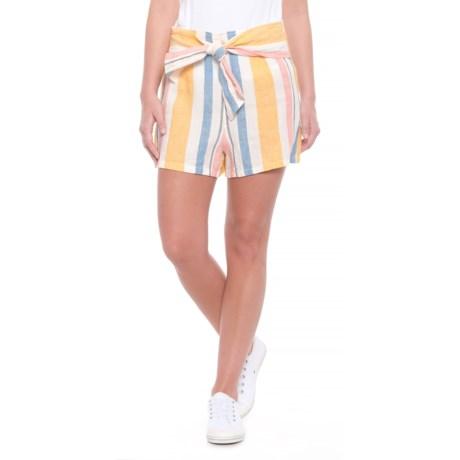 C&C California Dyed Stripe Side-Zip Linen Shorts (For Women)