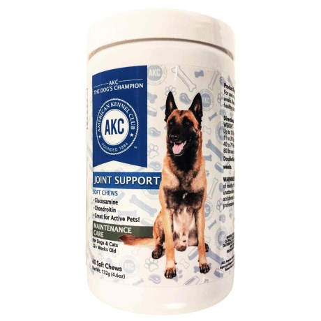 AKC Joint Support Maintenance Care Dog and Cat Supplements - 60-Count