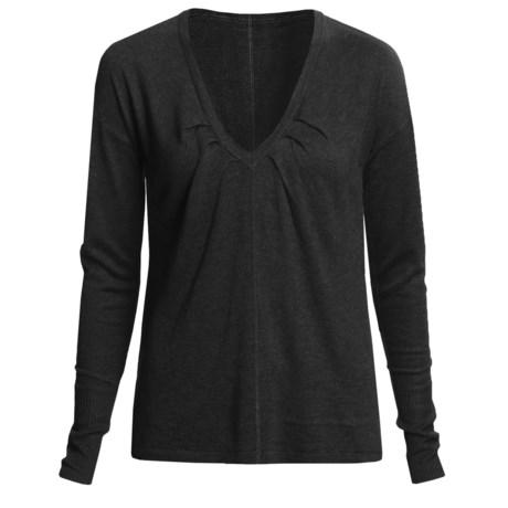 Lilla P Easy V-Neck Sweater - Long Sleeve (For Women)