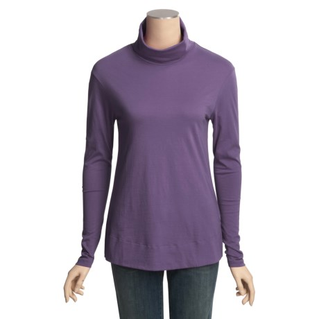 Lilla P Pima Basics Easy Turtleneck - Pima Cotton, Long Sleeve (For Women)