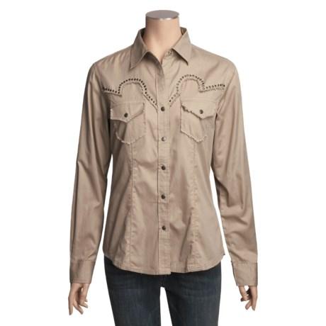 RU Cowgirl Snap-Front Shirt - Nailhead Detail, Long Sleeve (For Women)