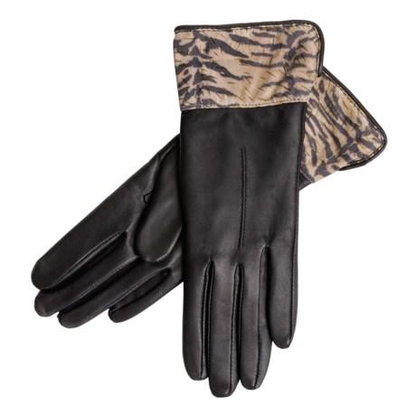 Grandoe Safari Lambskin Gloves - Cashmere Blend Lining (For Women)