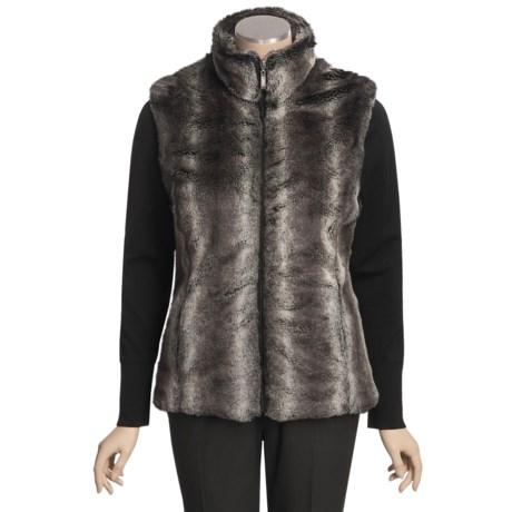 MontanaCo Chinchilla Vest - Faux Fur (For Women)