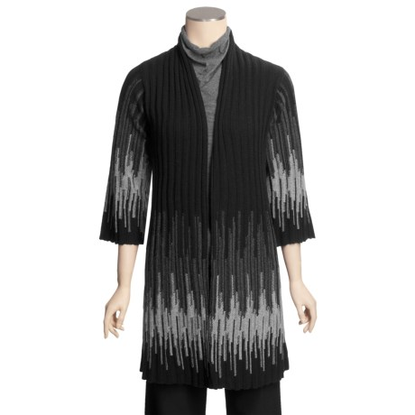 Kinross Ombre Kimono Cardigan Sweater - Cashmere, 3/4 Sleeve (For Women)