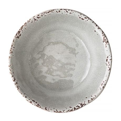 "Il Mulino Rusted Crackle 7"" Light Grey Melamine Bowl"