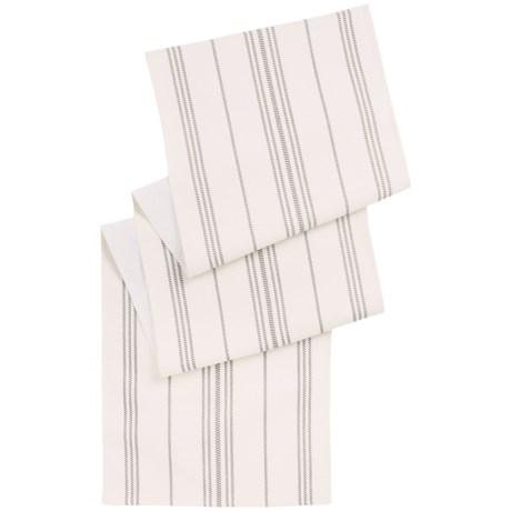 """THRO Sue Ellen Farmhouse Striped Table Runner - 18x80"""""""