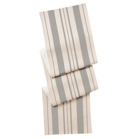 """THRO Fannie Farmhouse Striped Table Runner - 16x80"""""""