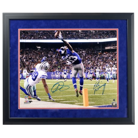 Steiner Sports Odell Beckham, Jr. and Eli Manning Dual-Signed Framed Photo - One-Handed Touchdown Catch