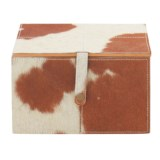 "UMA Leather and Hide Storage Box - 10"" Medium Square"