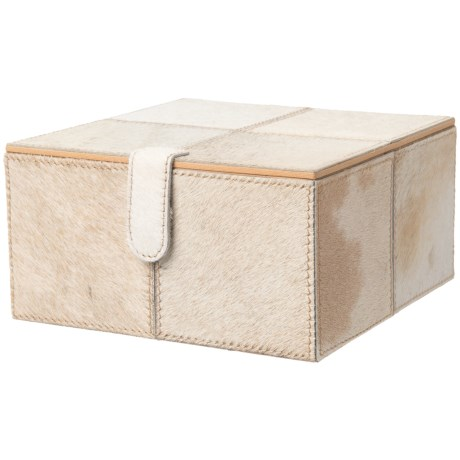 "UMA Leather and Hide Storage Box - 8"" Small Square"